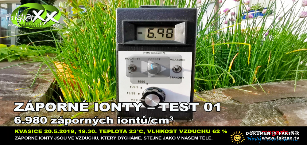 Záporné ionty–test 01