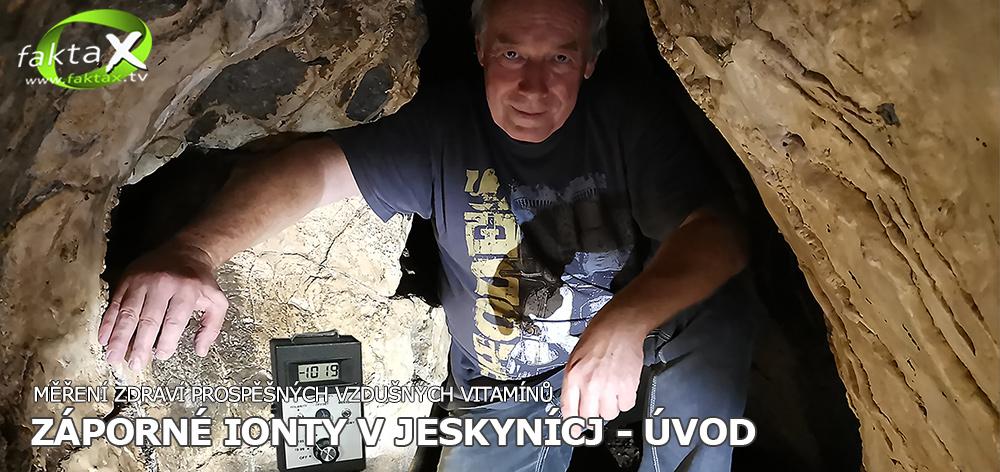 Záporné ionty v českých jeskyních